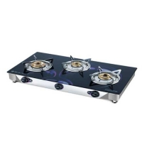 Bajaj Jewel Wave 3 Burner Glass Manual Gas Stove