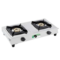 Black Pearl Plasma Double Burner Stainless Steel Gas Stove
