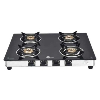 Black Pearl PNG Four Burner Glass Top Gas Stove