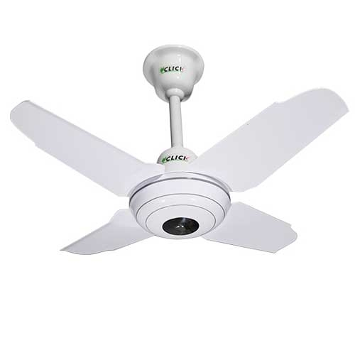 "CLICK Crown Ceiling Fan 24"" White"