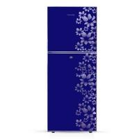 Jamuna JE-230L-Glossy Shining Deep Blue Flower Refrigerator