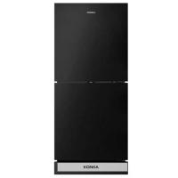 Konka KRT-180GBTMW-BLACK STONE (2-Door, Upper Freezer, Glass Door) Refrigerator