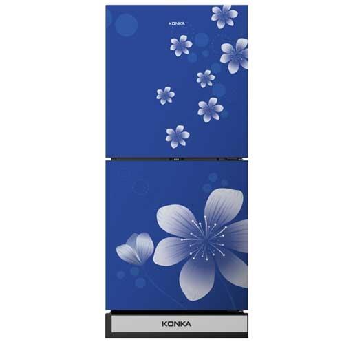 Konka KRT-180GBTMW-BLUE (2-Door, Upper Freezer, Glass Door) Refrigerator