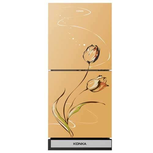 Konka KRT-180GBTMW-GOLDEN TULIP (2-Door, Upper Freezer, Glass Door) Refrigerator
