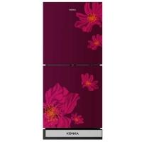 Konka KRT-180GBTMW-RED SAKURA (2-Door, Upper Freezer, Glass Door) Refrigerator