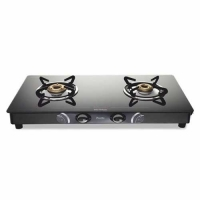 Preethi GTS 102 2 Burner Glass Manual Gas Stove