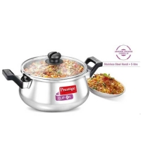 Prestige Clip on Stainless Steel Handi  5 Litre Pressure Cookware