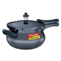 Prestige Deluxe Plus Hard Anodized Mini Black Handi 3.3 Litre Pressure Cooker