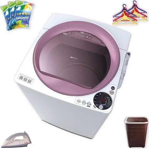 Sharp Full Auto Washing Machine ES-S75EW-P