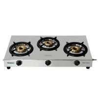 Usha Maxus GS3 001 3 Burner Steel Manual Gas Stove