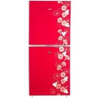 Vigo 205 Litre Red Flower Refrigerator