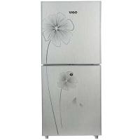 Vigo 205 Litre Silver Flower Refrigerator