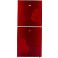 Vigo 205 Ltr Red Blooming Flower Refrigerator