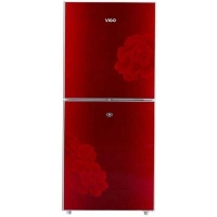 Vigo 215 Ltr Red Blooming Flower Refrigerator