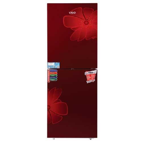 Vigo GD Refrigerator RE-262 L Red Blooming FL-TM