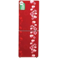 Vigo GD Refrigerator VGO-238G Red Flower By Vision Emporium