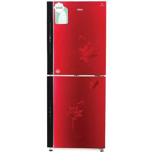 Vigo GD Refrigerator VGO-290G Red Flower