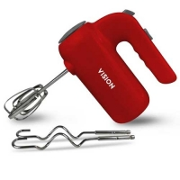VISION Electric Hand Mixer-VIS-HM-002 Red