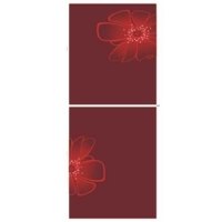 Vision GD Refrigerator Frost RE 262 L Red Blooming FL TM