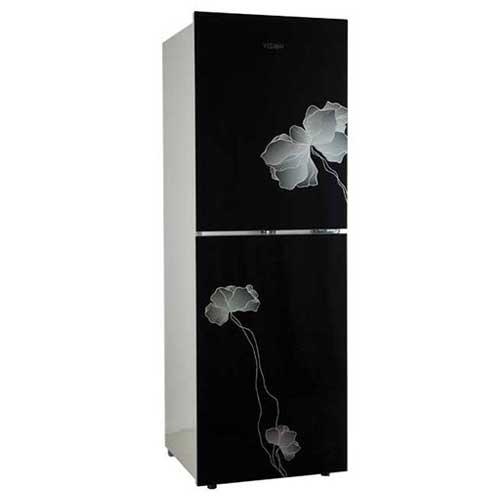 Vision GD Refrigerator RE-262 L Black Flower-1 TM