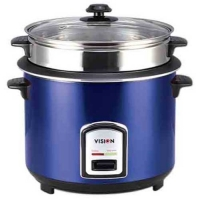 Vision RC-1.8 L 40-06 SS Blue (Double Pot) Rice Cooker