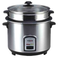 Vision RC-3.0 L SS 50-05 Silver (Double Pot) Rice Cooker