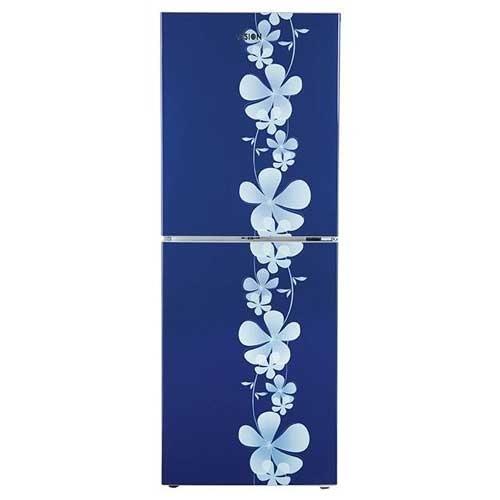 Vision Refrigerator Frost RE 222 L Blue side Flower