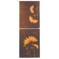Vision Refrigerator Frost RE 238 L Lotus Flower Brown