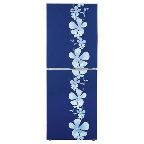 Vision Refrigerator Frost RE 252 L Blue Side Flower