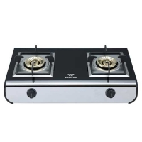 Walton WGS-AT299 (NG) Glass Top Double Burner