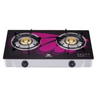 Walton WGS-GHT1 (LPG) PURPLE WING Glass Top Double Burner