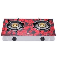 Walton WGS-GHT1 (LPG) RED CUBE Glass Top Double Burner