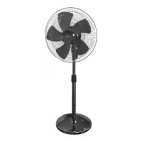Walton WPF-24A-PBC Pedestal Fan (Black)